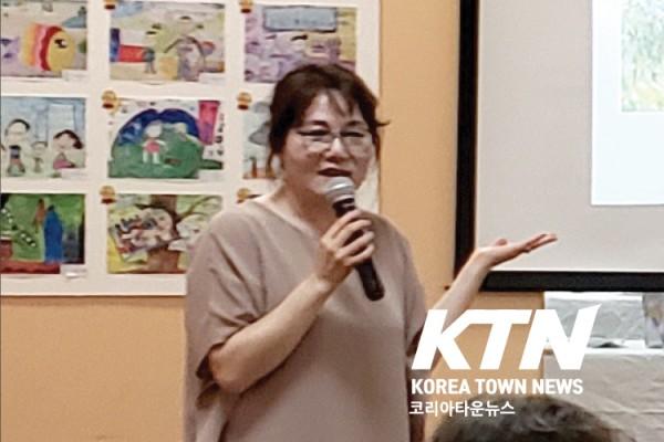텍사스 중앙일보 현 발행인이자 드림아트 미술학원 원장인 문정씨