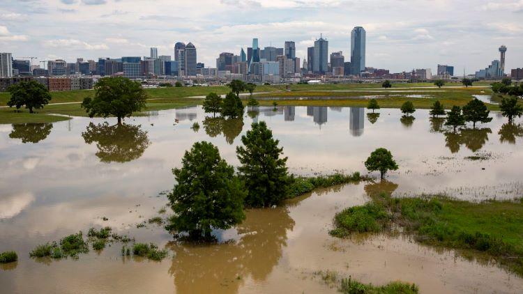 최근 잦은 폭우로 북텍사스 4개 카운티에 홍수 경보가 발령됐다. (사진 출처: 달라스 모닝뉴스)