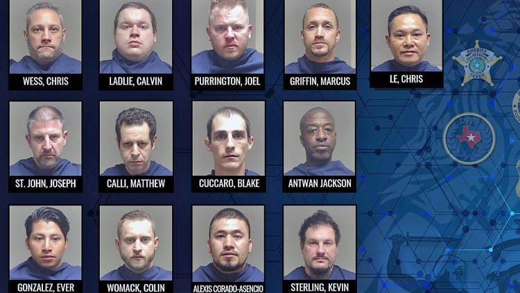 콜린 카운티 보안관국이 여러 사법 기관들과 공조한 온라인 아동 성범죄 위장 단속 작전을 통해 10여명의 성범죄 용의자들을 체포했다. (사진 출처: CBS DFW)