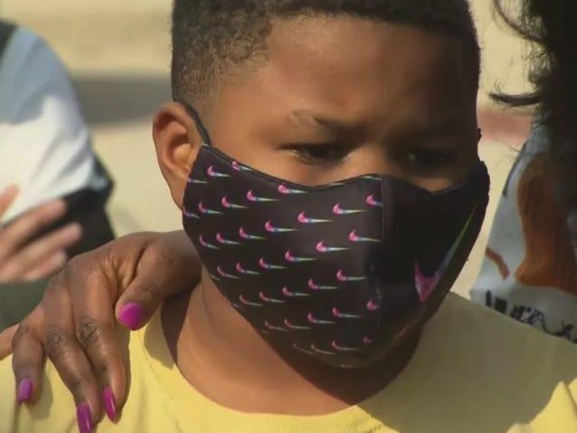 학교 폭력을 당했던 해거드 중학교의 세마리온 험프리 (사진 출처: CBS DFW)