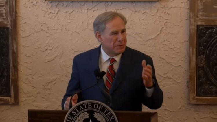 그렉 애봇 주지사가 텍사스의 100% 경제 개방과 함께 마스크 착용 의무화 종식을 선언했다. (사진 출처: NBC 5)
