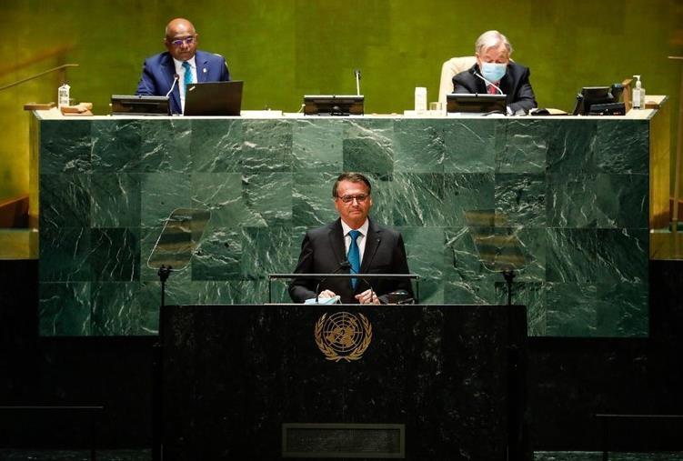 지난달 유엔 총회에서 연설하는 브라질 대통령