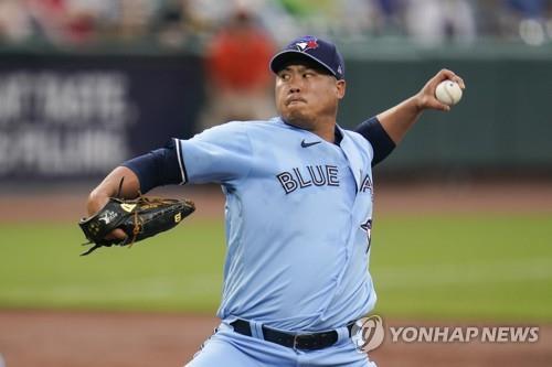 토론토 블루 제이스의 류현진 선수 (사진 출처: 연합뉴스)