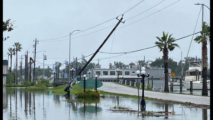 텍사스 갈베스턴 지역도 정전 피해를 입었다. (사진 출처: ABC13)
