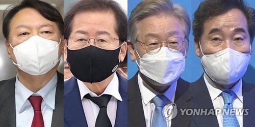 윤석열-홍준표-이재명-이낙연