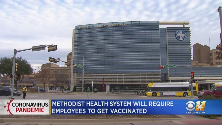 메소디스트 헬스 시스템에서도 직원들의 코로나 19 백신 접종 의무화 조치를 발표했다. (사진 출처: CBS DFW)