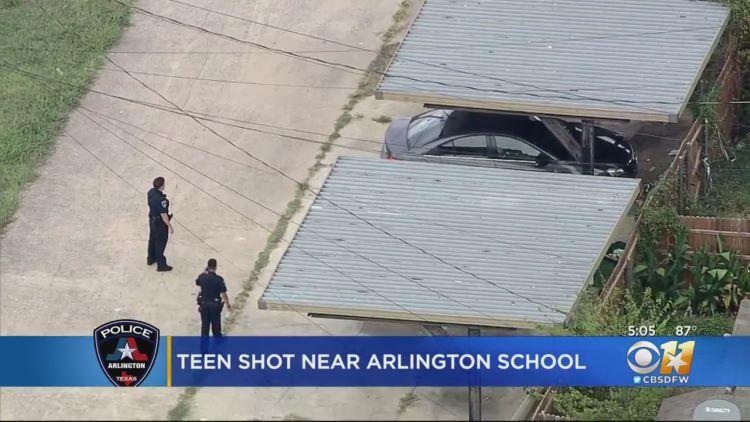 알링턴 교육구 소재 고등학교 주변에서 총격 사건이 발생했다. (사진 출처: CBS DFW)