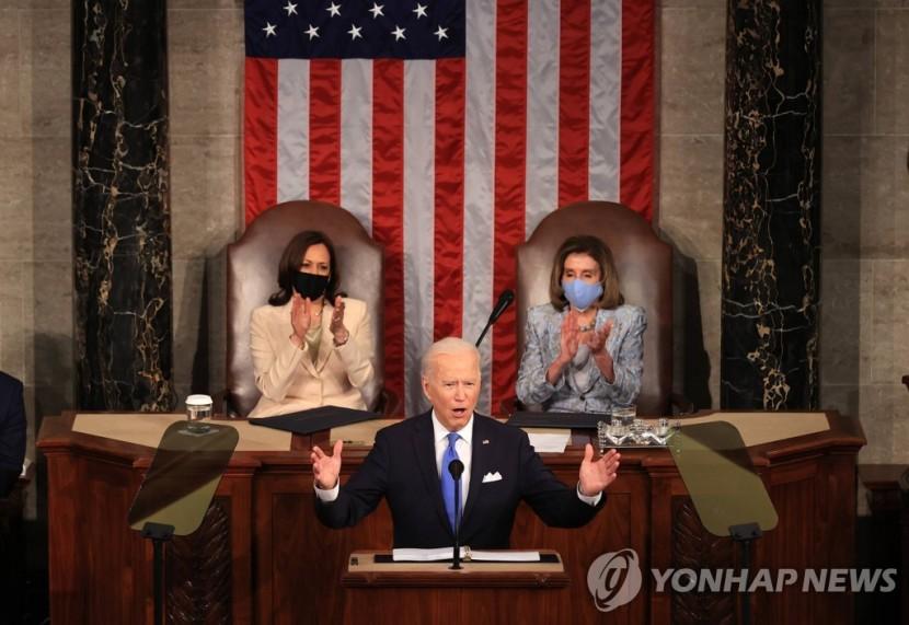 의회에서 연설하는 조 바이든 미국 대통령 [AFP=연합뉴스]